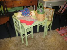 Painted Children's Table Set