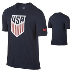 Nike  Youth USA  Crest Soccer Tee (Obsidian 2016): http://www.soccerevolution.com/store/products/NIK_43263_A.php