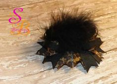 Boutique Hair Bow with Feathers by Shana's Boutique