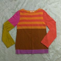 Isaac Mizrahi For Target Sweater Size Small Multi Color Striped S