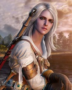 f Ranger Leather Sword farmland village hills forest Ciri The Witcher 3 Ciri Witcher, Witcher Art, Geralt And Ciri, The Witcher Game, The Witcher Wild Hunt, Fantasy Characters, Female Characters, Witcher Wallpaper, Yennefer Of Vengerberg