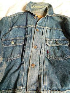 Vintage Levi Strauss capital E type II pleated 507 salvage denim jacket rare | eBay