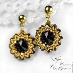 "Wedding earrings with pearl, boho chic earrings, white and gray bridal earrings ""Silver"" Wedding Earrings, Beaded Earrings, Wedding Jewelry, Silver Earrings, Drop Earrings, Bead Jewellery, Beaded Jewelry, Jewelery, Bead Weaving"