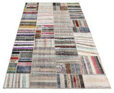 118 x 78 Inches Vintage Carpet Patchwork Kilim by VintageCarpets