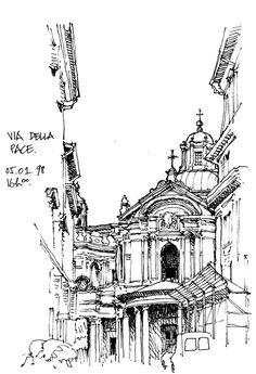 Rome, Via della Pace 1998   by gerard michel