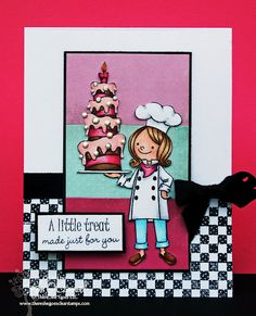 """There She Goes Clear Stamps """"A Little Treat"""" stamp set to be released on 4/28/12"""