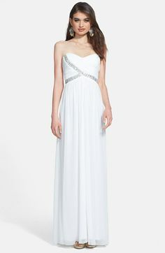 Way-In Embellished Cutout Strapless Gown (Juniors) available at #Nordstrom