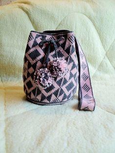 Large Mochila Bag wayuu tecnique large woven beach bag cross