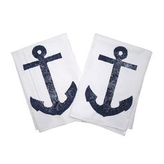Dry your hands and dishes in coastal-chic style with this breezy towel set.  Product: Set of 2 kitchen towelsConstruction...