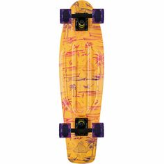 Part of the Penny Skateboards Holiday collection the Hawaiian Print Nickel cruiser complete will have you getting barreled on any street you skate. This complete has a purple top deck with Hawaiian print bottom and comes complete with soft cruiser wheels and trucks for an all around great ride.