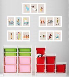 Peter Pan Art Prints (Set of 3 5x7 Images) - Mermaids - Wendy - Captain Hook - Tiger Lily - Lost Boys - Peter Pan Nursery Kids Room Wall Art...