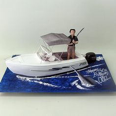 Fishing Man On A Boat Cake  Boats / Ships Sea 3D Cakes