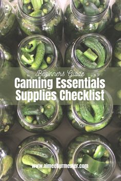 Here is my list of beginner canning supplies that can help you get started and on your way to canning all your fruit and veggie goodness! Canning Supplies, Grow Together, My Fb, Canning Recipes, Get Started, Blessings, Essentials, How To Get, Healthy Recipes