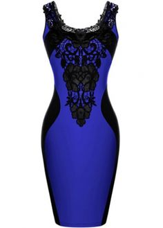 Glamorous Sleeveless Round Neck Mini Dress with Lace