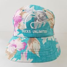 Ducks Unlimited Snapback Hat Cap Floral Hawaiian Dorfman Pacific Mens One Size by TraSheeWomen on Etsy Ducks Unlimited, Hats For Sale, Snapback Hats, Hawaiian, Cap, Cool Stuff, Trending Outfits, Unique Jewelry, Handmade Gifts