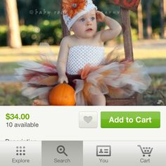 Halloween/fall tutu outfit