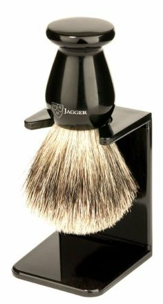 Edwin Jagger 1ej946sds Traditional English Best Badger Hair Shaving Brush  Faux Ebony Medium With Drip Stand cd8c2f784cbe