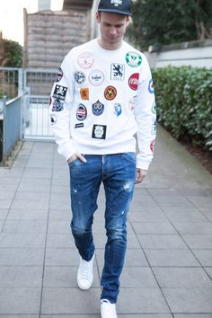 Patch it up im coolen Dsquared2 Sweater!