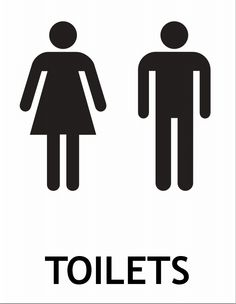 Printable Unisex Restroom Sign for bathroom at my home