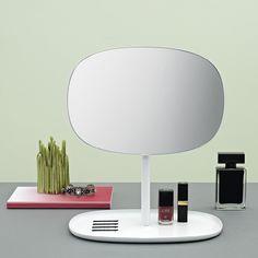 Tischspiegel mit Ablage Flip Mirror weiß - Normann Copenhagen