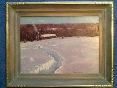 Frank Hanz 'Franz' Johnston 'Trapper's Lodge' x Oil on Board. Painting never seen in public before. Canadian Group of Seven. Group Of Seven Paintings, Seventh, Winter Landscape, Painter, Painting, Canadian Painters