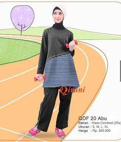 Beli Baju Sport Wanita Olahraga Qirani Fresh QDF-20 Abu dari Aprilia Wati agenbajumuslim - Sidoarjo hanya di Bukalapak