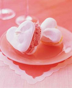 Meringue Heart Ice-Cream Sandwiches
