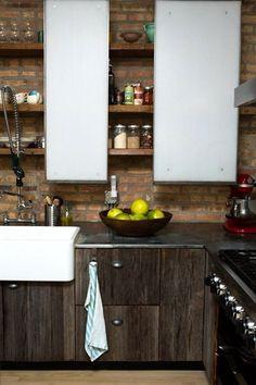 I love so many elements in this kitchen! Ellen & Greg's Renovated Loft Kitchen Kitchen Tour | The Kitchn
