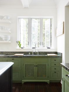 Lush Green Cabinetry