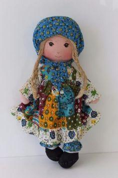 VTG-Knickerbocker-The-Original-Holly-Hobbie-9-Rag-Doll