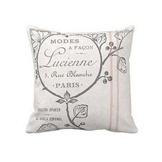 Oreiller couverture rose Label français parfum Lucienne Label Grainsack oreiller