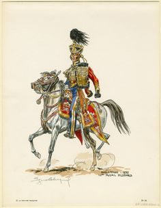 British 10th Royal Hussars 1830, by Eugène Leliepvre.