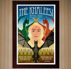 Khaleesi Recruitment Poster - Game of Thrones by KnerdKraft on Etsy