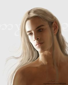 mythlorn-art:  Finrod - Practice Ooh! Ooh! I would love to see your take on Finrod! - eringobragh96 You know what? Yes. <3 This is my take on Finrod Felagund, Lord of Nargothrond. I hope you enjoy ~