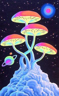 """So it's the year to share rig Trippy Drawings, Psychedelic Drawings, Art Drawings, Mushroom Drawing, Mushroom Art, Arte Hippy, Mushroom Wallpaper, Drugs Art, Arte Alien"
