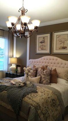 Model home bedroom... So pretty
