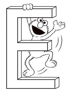 Free printable sesame street coloring pages 6 : Fullcoloringpages.com