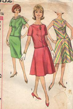 Vintage 1960s Simplicity Sewing Pattern 4352 Misses'