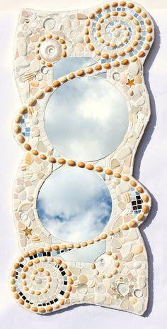 Sold Beachcomber Mosaic spiral commissioned von NikkiEllaWhitlock, £280.00
