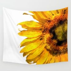 Wall Tapestry featuring Simply A Sunflower by UtArt