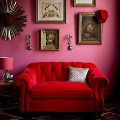 Sitting room of our dreams... #obuslovespink via @artifactpdx