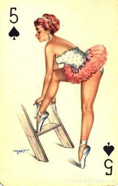 Ballet pin up My Dream Car, Dream Cars, Ballerina Tattoo, Tarot, Pin Up Girl Vintage, Vintage Ballet, Vintage Playing Cards, Pin Up Tattoos, Nose Art