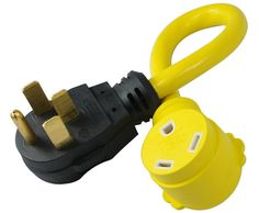 Conntek 14315 Male to Female RV Power Pigtail Adapter - KyrStore Portable Power Generator, Class B Motorhomes, Electrical Supplies, Camping Supplies, Rv Camping, Outdoor Camping, Power Cable, Plugs, Cord