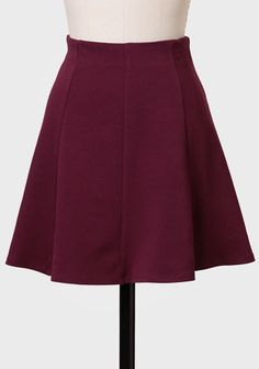 Through The Grapevine Skater Skirt ...with a black sweater and heals