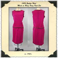 1960's Zephyr Wool Knit Set or Suit in by NobleSavageVintage, $50.00