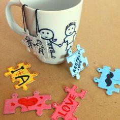 DIY Jigsaw Puzzle tea