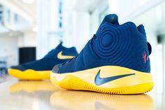 "Nike KYRIE 2 ""Navy/Yellow"" NBA Playoff PE - EU Kicks: Sneaker Magazine"