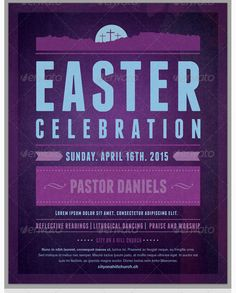 Easter Celebration Church Flyer Template - Party Flyer Templates For Clubs Business & Marketing