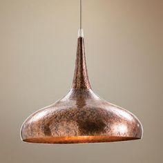 36 best pendant light copper images on pinterest light fixtures beautiful arteriors home mario dark copper hammered iron pendant light aloadofball Image collections