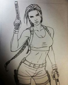 Lara Croft by Andy Park Tom Raider, Tomb Raider Game, Tomb Raider Lara Croft, Lara Croft Game, Dark Art Drawings, Pencil Art Drawings, Lara Croft Disfraz, Comic Books Art, Comic Art